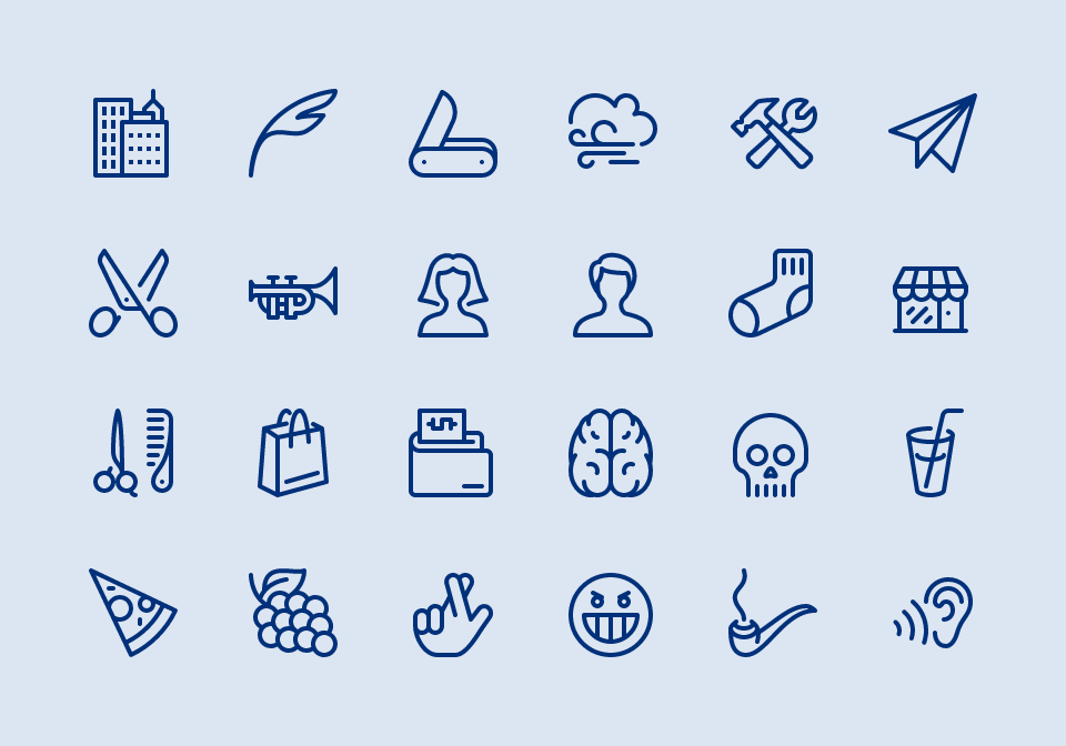Line Drawing Icons : Icon packs
